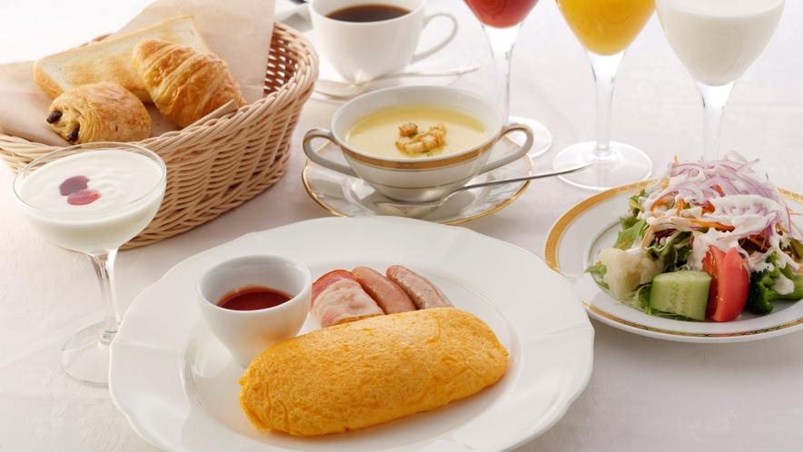 洋朝食 オムレツの一例