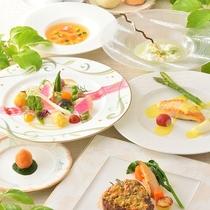 【夕食例】フレンチコース料理B(夏メニュー)