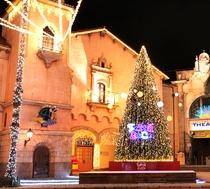 大きなクリスマスツリー前では、毎週音楽会や大道芸のイベントを開催中♪♪
