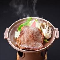 【追加料理】秋田牛肩ロース陶板焼き