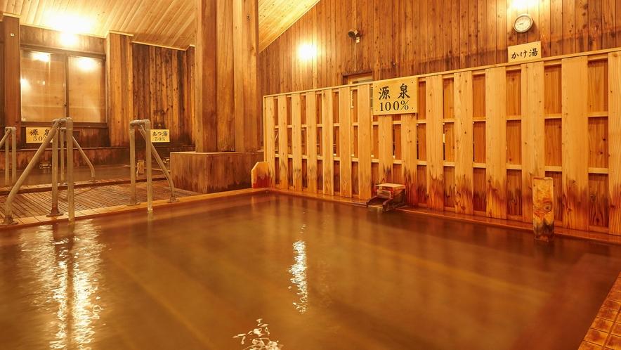 【大浴場】PH1.2という塩酸が主成分の強酸性の泉質となっております。