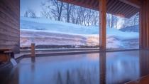 【露天風呂】冬の露天風呂
