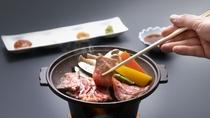 【追加料理】「秋田錦牛サーロインと季節の野菜陶板焼き」