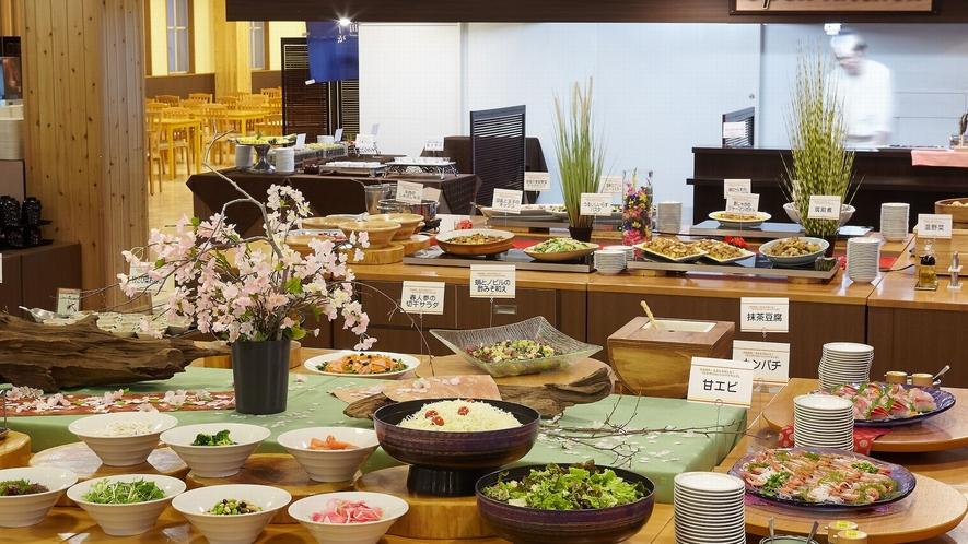 【夕食バイキング一例】四季鮮菜・あきたを愉しむ!「カラダにおいしいバイキング」がコンセプト
