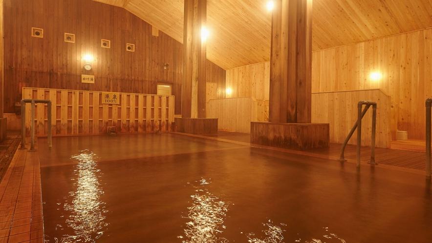 【大浴場】ごゆっくりと、自分のペースでお湯の効能をご堪能ください。