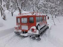 【その他:雪上車体験】白銀の世界の中を進む雪上車