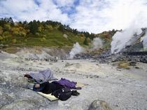 【玉川温泉自然研究路】岩盤浴発祥の地と言われています。