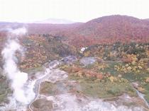 【外観】玉川温泉のドローン画像