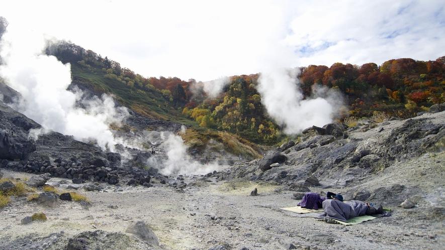 【玉川温泉自然研究路】噴気孔