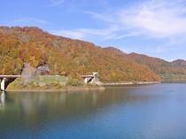 【周辺観光】宝仙湖(玉川ダム湖)の紅葉