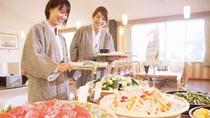 【夕食バイキング一例】女性にうれしい新鮮野菜コーナー