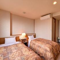 *【部屋/ツイン】全室セミダブルベッドを使用しています。