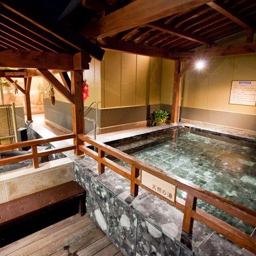 別館 温浴施設【癒しの里 さらい】一日の疲れは大きな湯舟に浸かってゆったりと。