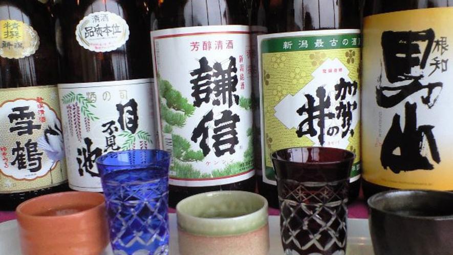 糸魚川の地酒の数々!糸魚川の全ての蔵元のお酒です