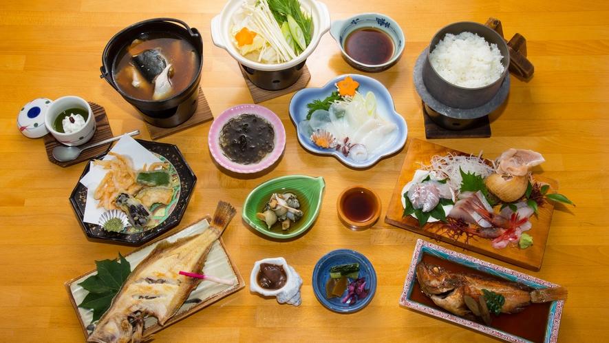 日本海で獲れた食材で、実(じつ)のあるお料理をお出しいたします