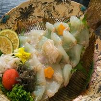 【花ごころ-hanagokoro-会席】で食せる鮃の薄引き