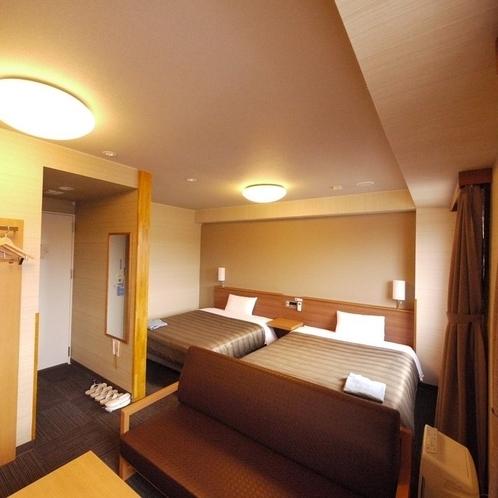デラックスツインルーム~140cmベット×2・ソファー~全室Wi-Fi・加湿空気清浄機完備