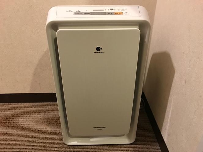 加湿機能付き空気清浄機(ツインルーム、ダブルルーム)
