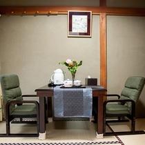 *和室7.5畳一例/当館スタンダードタイプ・3畳+4畳半の二間続きの和室