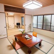 *和室14畳一例/7名様まで一緒に泊まれる8畳+6畳の二間続きの和室