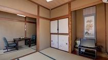 *和室7.5畳一例/当館スタンダードタイプ・3畳+4畳半の二間続きの和室。