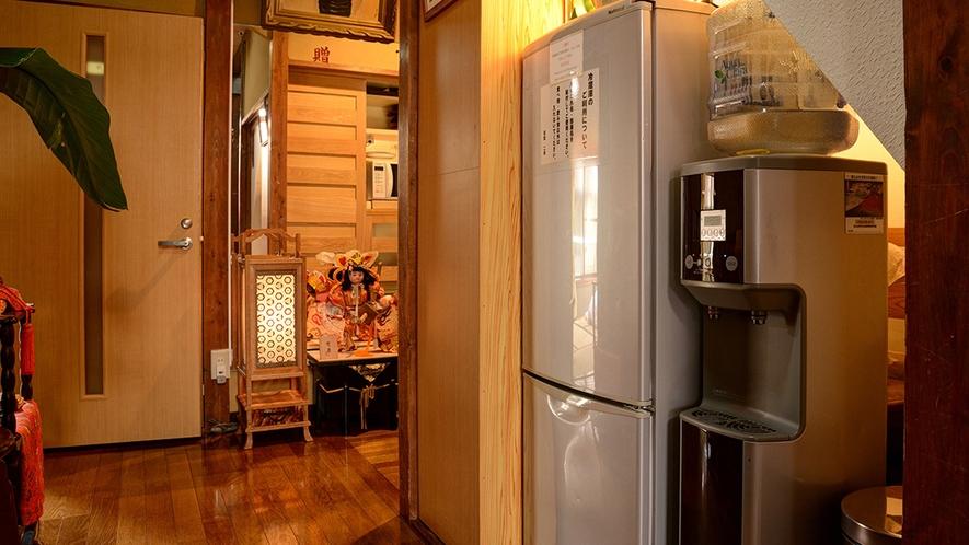 *共有スペース/「冷蔵庫」「ウォーターサーバー」をご用意しています。ご自由にご利用ください。