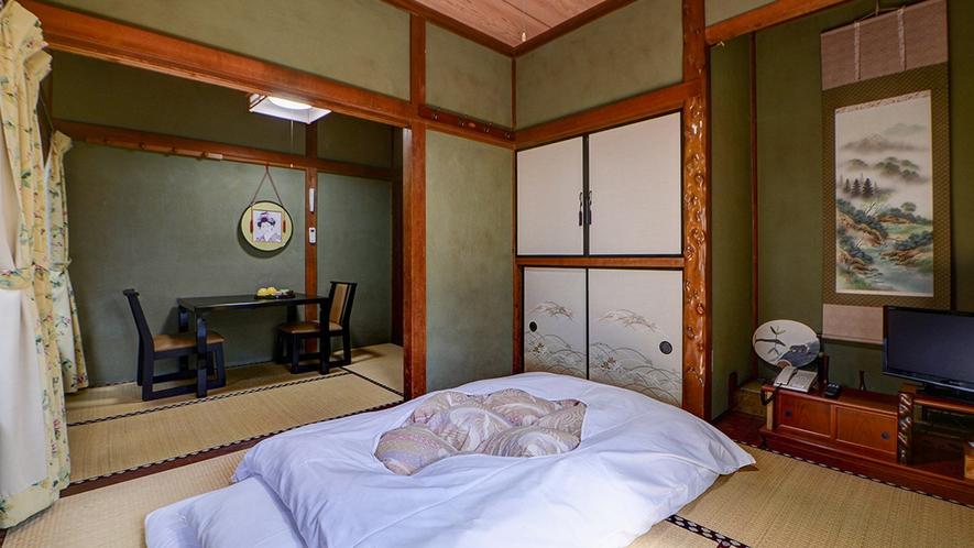 *和室7.5畳一例/ふかふかのお布団でぐっすりお休みください。