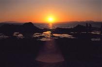 稚児ヶ淵夕陽