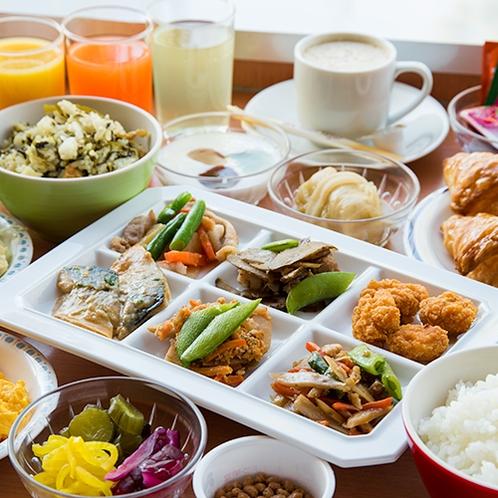 **【朝食バイキング】和洋食どちらもしっかりとご用意!お腹いっぱい食べてください!