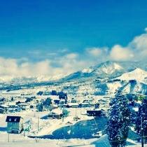 【冬】丸山スキー場からの景色