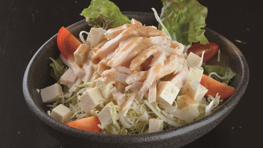 蒸し鶏と豆腐サラダ
