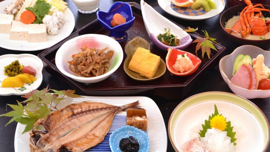 ◆【朝食グレードアップ】特選朝食付プラン 旅館で食すこだわりの本格和定食