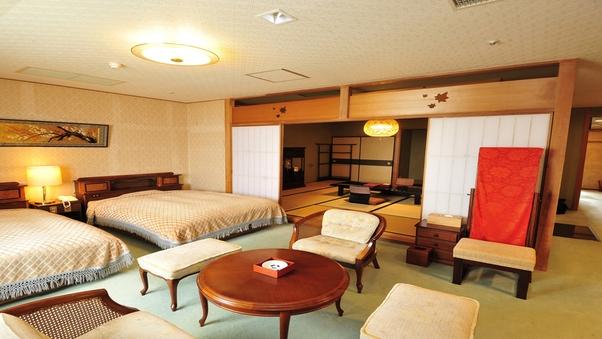 和洋室【12.5畳+ツインベッド】