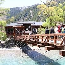 白樺荘と河童橋