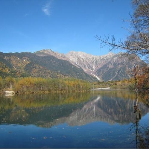 秋の上高地(大正池)