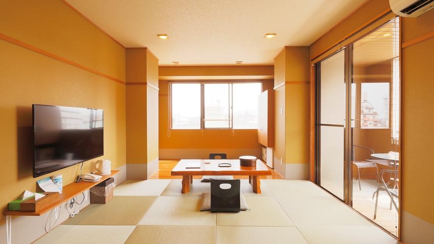 【新館4F】半露天風呂付部屋角部屋