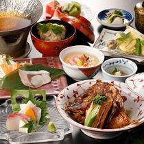女将おすすめ【カジュアル会席】鯛の煮つけ&浜ちゃん鍋メニュー