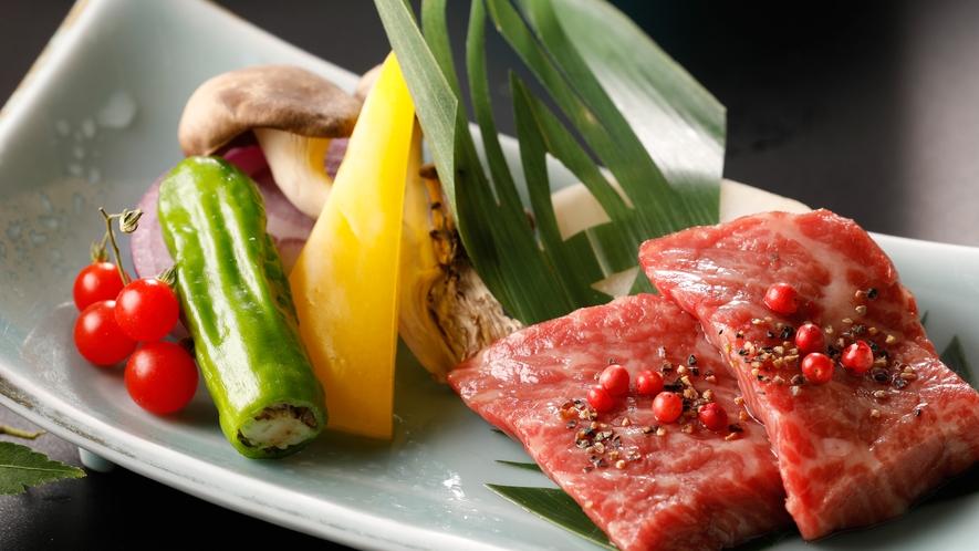 人気NO,1逸品「焼物:神戸牛のステーキ」メイン