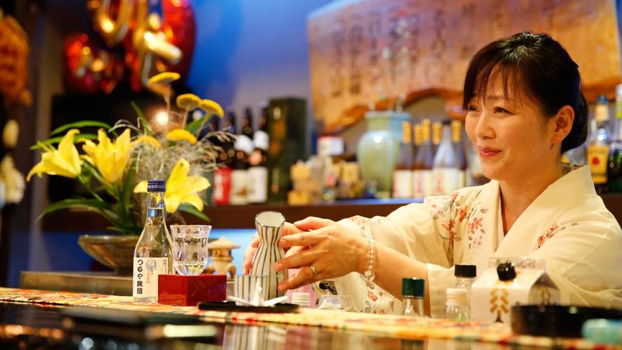 女将のおすすめ日本酒をどうぞ※当日予約制