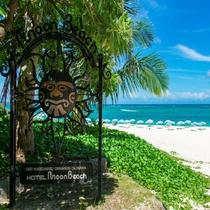 オールドロゴとビーチ
