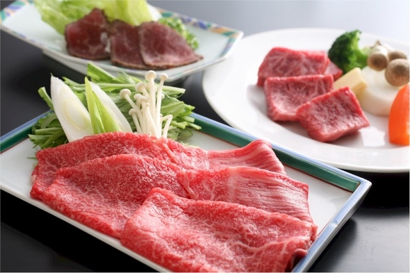 美味但馬牛★ステーキ+しゃぶ+ローストビーフプラン