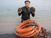 岩がきと社長①(2012.7月撮影)