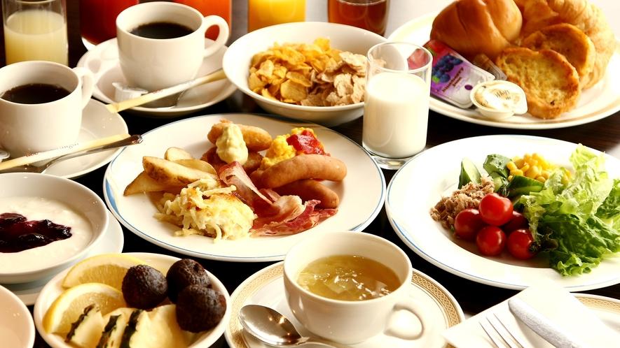 朝食バイキングイメージ:大好評の50種類和洋朝食バイキングをお召し上がり下さい♪