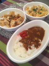 平日19:00~21:00 無料夕食サービス カレーライス 麻婆豆腐 親子丼 ※なくなり次第終了※