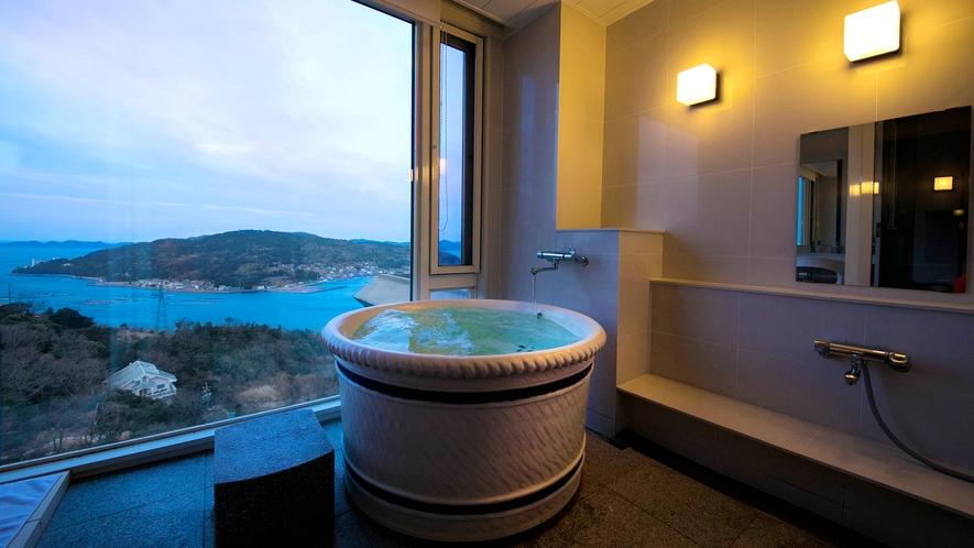 【海側最上階<絶景展望風呂付き>特別室-はづき-】展望風呂