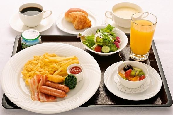 朝食プラン <洋食モーニングセット> ♪パン・ドリンクおかわり自由♪