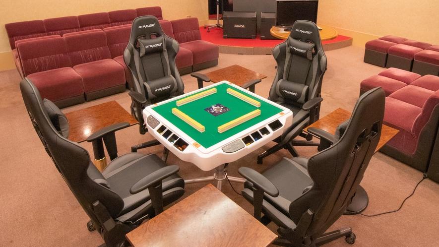 【館内施設】全自動麻雀卓&専用ゲーミングチェア