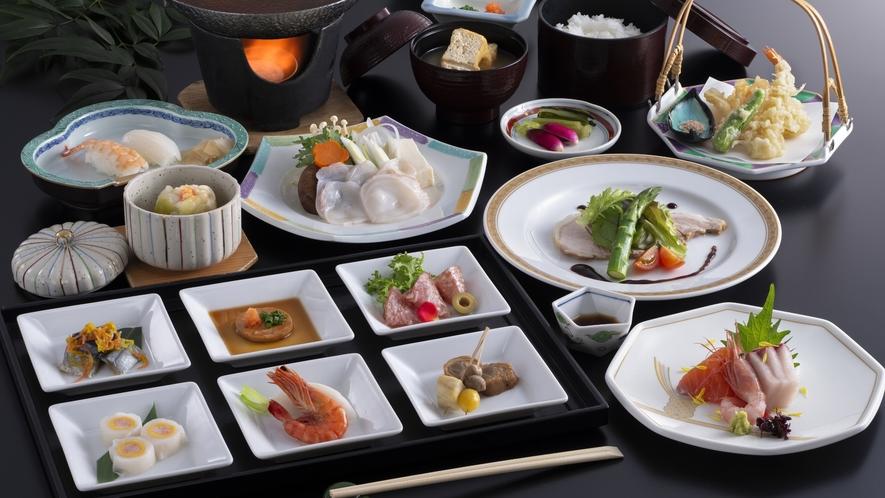 【ご夕食】和洋折衷のセットメニュー「御膳ディナー」(イメージ)