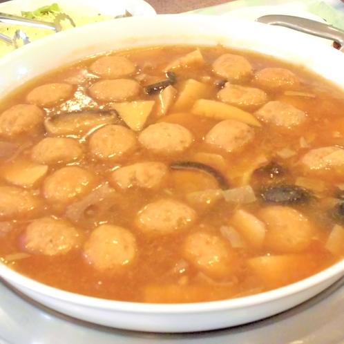 朝食日替わり一例『中華総菜 肉団子と筍の旨煮』