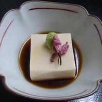 *お料理一例:ゴマ豆腐